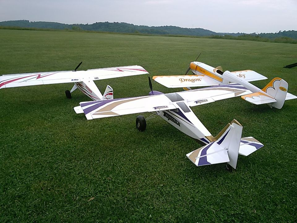 Some of the planes flown yesterday! Jeff and Joe had the field to themselves!