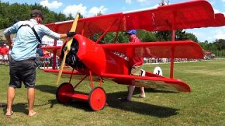 GIANT FOKKER DR-1 WITH 7 CYL. 820cc VALACH RADIAL ENGINE