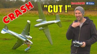 HobbyKing C-47 / DC-3 Maiden Flight NEAR DISASTER CRASH and first FLIGHT !